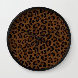 Leopard Print - Dark Wall Clock