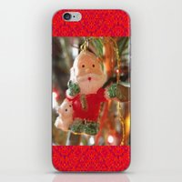santa iPhone & iPod Skins featuring Santa by lillianhibiscus