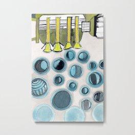 The Bubbles Production Machine Metal Print