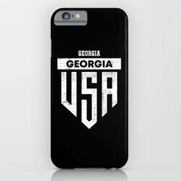 Georgia USA Flag iPhone Case
