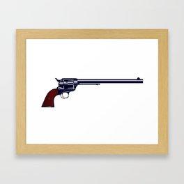 Long Barrel Six Gun Framed Art Print