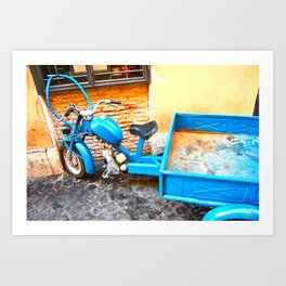 the blue scooter Art Print
