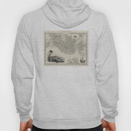 Vintage Map of Boston MA (1838) Hoody