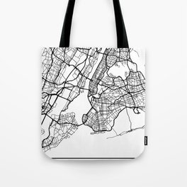 NEW YORK CITY NEW YORK BLACK CITY STREET MAP ART Tote Bag