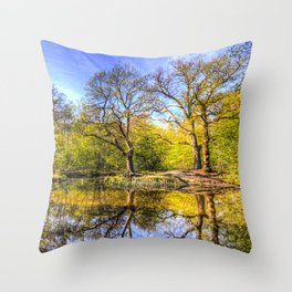 The Tranquil Pond Throw Pillow