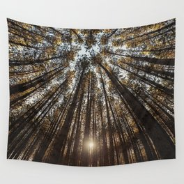 Pines Above Wall Tapestry