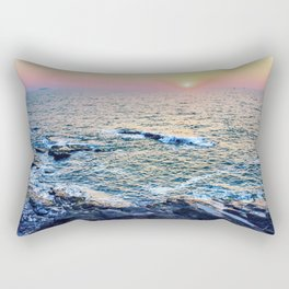 Sunset at fort Aguada Rectangular Pillow