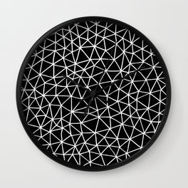 Connectivity - White on Black Wall Clock