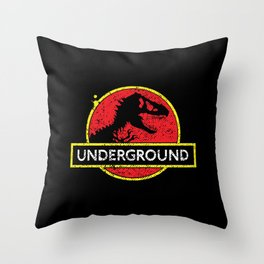 Monsters of the Underground Throw Pillow