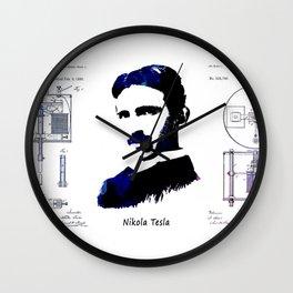 patent Tesla Electric Arc Lamp Wall Clock