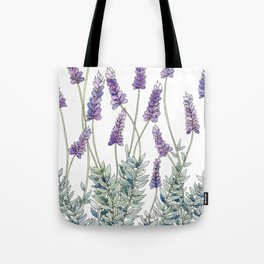 Lavender, Illustration Tote Bag