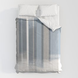 Blue and Grey Retro Style Geometric Abstract - Codex Comforters