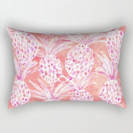 FLESHED OUT Tropical Pink Pineapples Rectangular Pillow