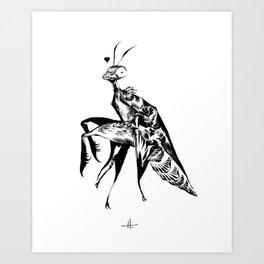 Mantis Love Art Print