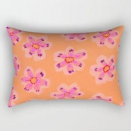 Orange Emily Claire Rectangular Pillow