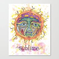 sublime Canvas Prints featuring Sublime by Rachael Amber