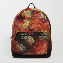 Magnificent Awesome Colorful Fireworks In The Sky HD Backpack