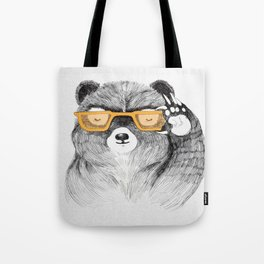 Hipster Bear Tote Bag
