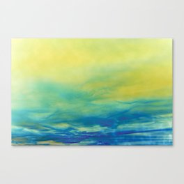 YELLOW & BLUE TOUCHING #1 #abstract #art #society6 Canvas Print