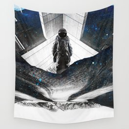 Astronaut Isolation Wall Tapestry