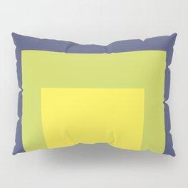 Block Colors - Yellow Green Violet Pillow Sham