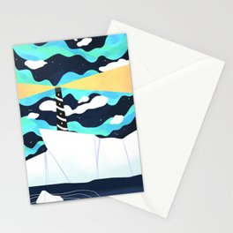 "Cold Soldier - Revival of ""Nothern Wall Arctic Lighthouse #2"" Stationery Cards"