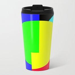 GETTING IN SHAPE - FUN SHAPED GEOMETRIC MULTI COLOURED DESIGN Travel Mug