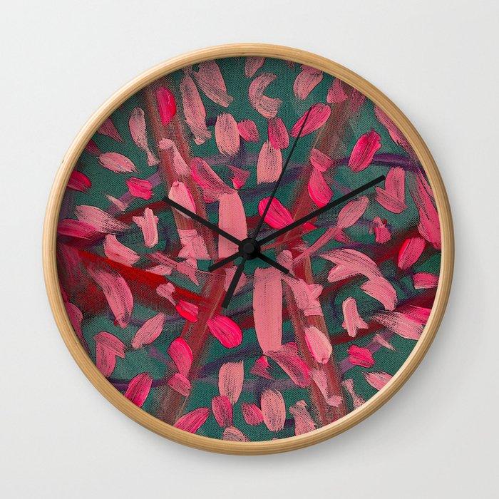Vivacity in Pink Wall Clock