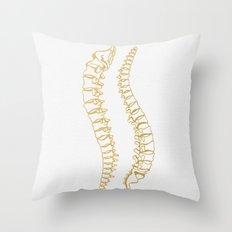 Gold Vertebrae Throw Pillow