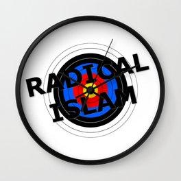 Radical Islam Target Wall Clock