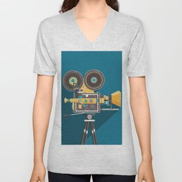 CINE: Blue Unisex V-Neck