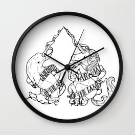 Unicorn of the Sea/Narwhal of the Land Wall Clock
