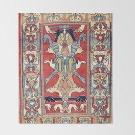 Sehna Kurdish Northwest Persian Rug Print Throw Blanket