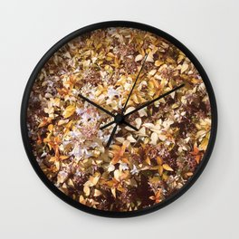 Autumn bloom Wall Clock