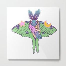 Moth Magick Metal Print