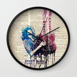 JIMMY PAGE #2 on dictionary page Wall Clock