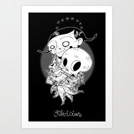 Octopus lover Art Print