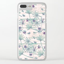 Sea floral print Clear iPhone Case