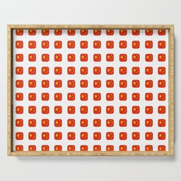 Flag of China - with soft square Serving Tray
