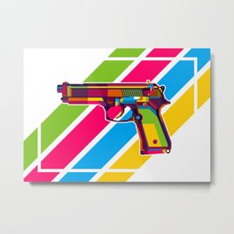 Handgun Metal Print