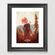 Witcher 3 wild hunt  Framed Art Print