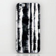 Tie-Dye Shibori Stripe BW iPhone & iPod Skin