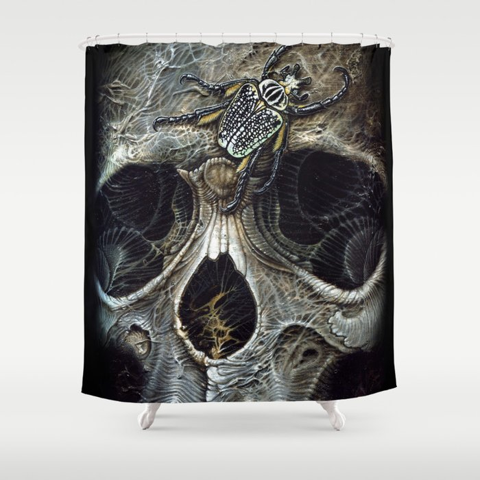 goliath skull Shower Curtain by vossfineart | Society6