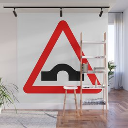 Bridge Traffic Sign Isolated Wall Mural