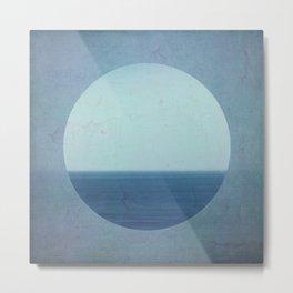 blue circle Metal Print