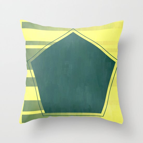 Hexa Teal | Minimalist | Abstract | Modern | Shapes | Geometrix Throw Pillow