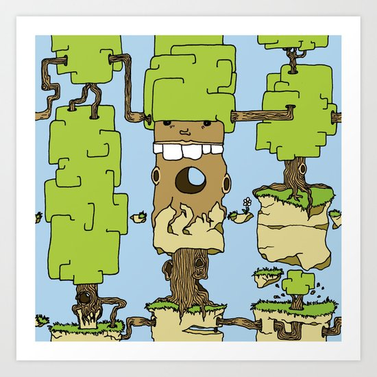Trees expansion Art Print