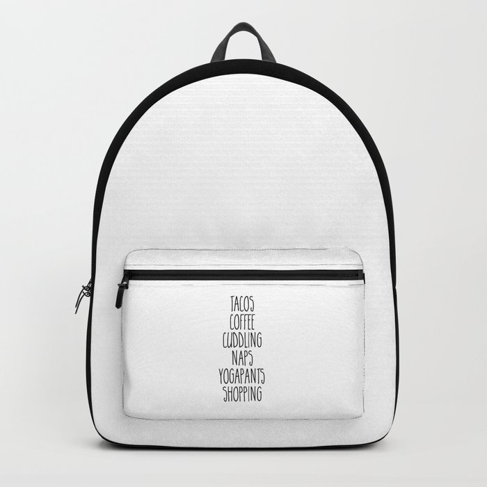 Tacos & Coffee Funny Quote Backpack