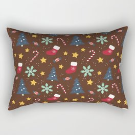 It's Christmas Time Colourful Pattern V Rectangular Pillow