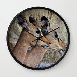 Impala Double Wall Clock
